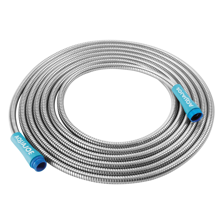 25FT Stainless Steel Metal Garden Hose Water Tube Flexible Lightweight #