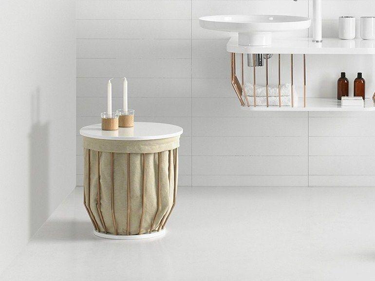 Portabiancheria sgabello per bagno collezione bowl by inbani