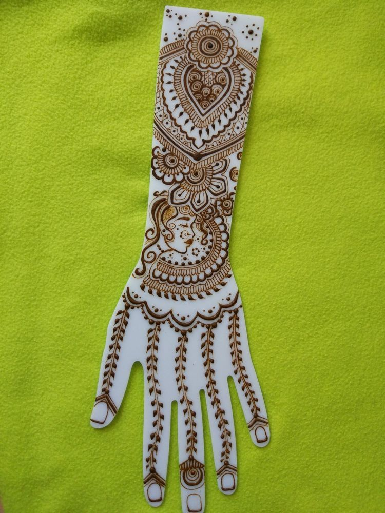 White Acrylic Practice Henna Mehndi Templates