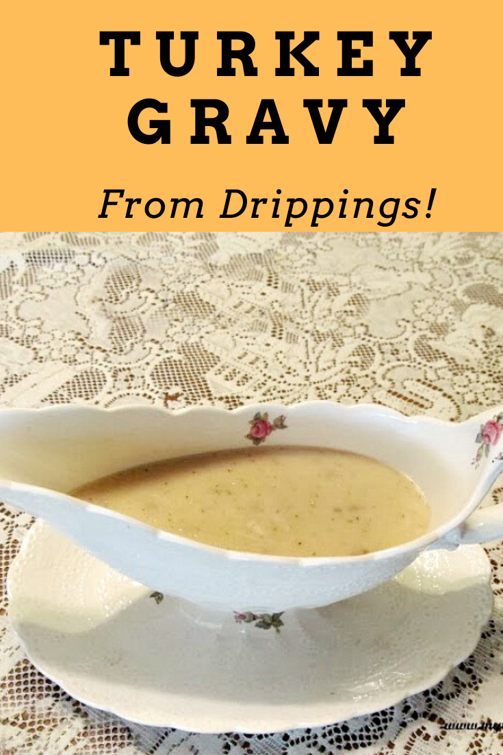 Easy Turkey Gravy from Drippings #turkeygravyfromdrippingseasy