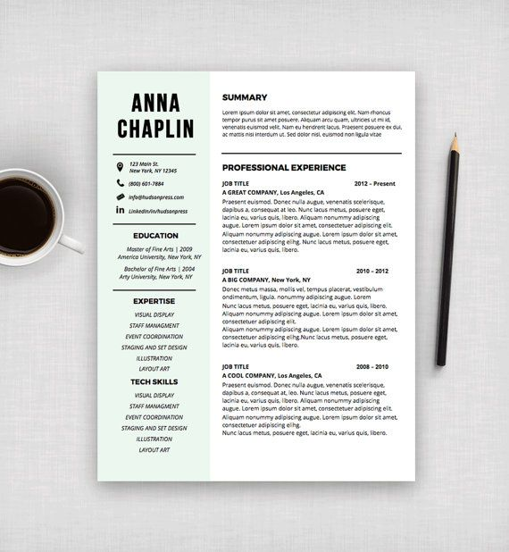 Modern Resume Template, CV and Cover Letter, Resume Layout Design - ms word cover letter template