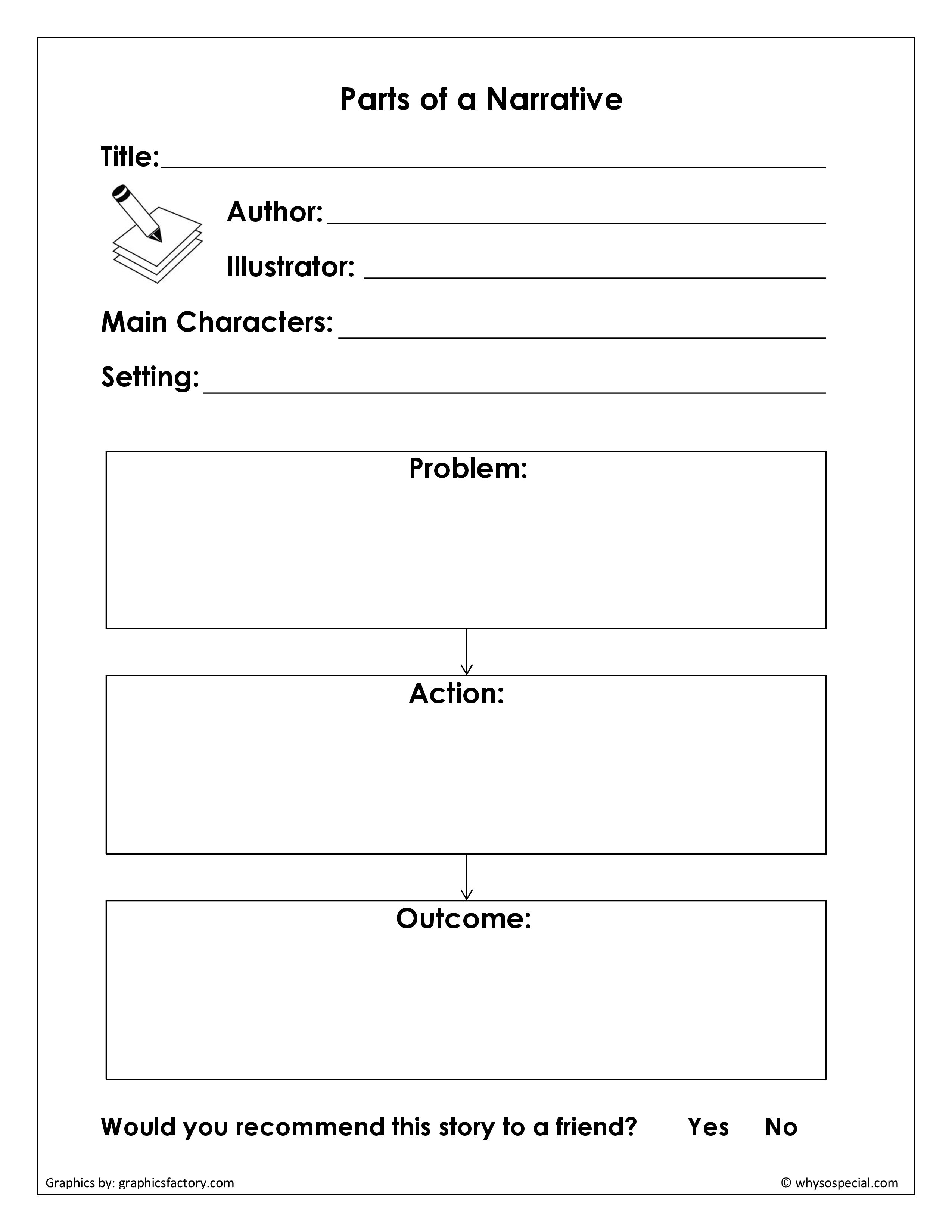 This Is A Little More Grown Up Version To Help With Writing A Narrative Also Graphic Organizer For Reading Graphic Organizers Comprehension Graphic Organizers