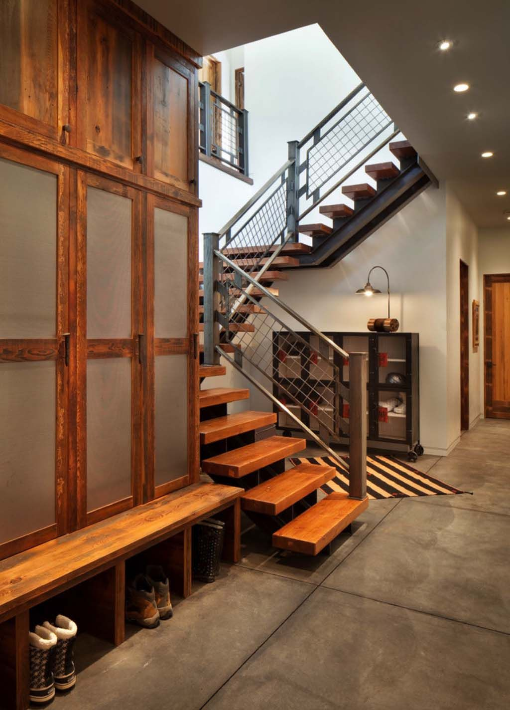 A mountain modern take on the classic ski in ski out chalet in montana