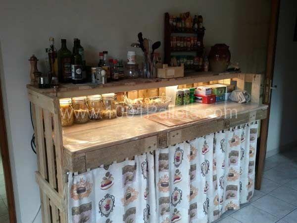 Kuchnia Z Palet Pallet Diy Kitchen Worktop Diy Pallet Projects