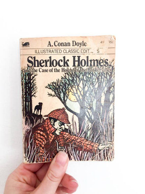 Vintage Sherlock Holmes Book – Vintage Book – Sherlock Holmes Gift – Paperback 1970s – A. Conan Doyle – Gift for Him – Book Lover Gift