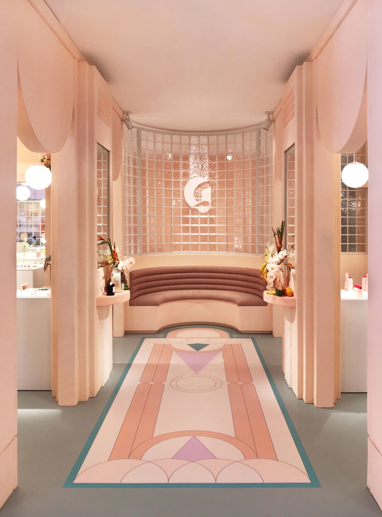 Photo of We're Living for Glossier's Art Deco–Inspired Miami Pop-Up