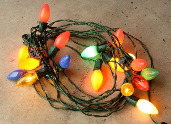 20 ft strand of vintage large bulb christmas tree lights i love 20 ft strand of vintage large bulb christmas tree lights i love these large aloadofball Choice Image