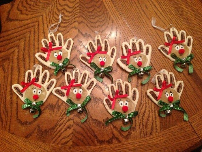 Basteln mit Salzteig - 40 Bastelideen für Salzteig Weihnachtsdeko #christbaumschmuckbastelnkinder
