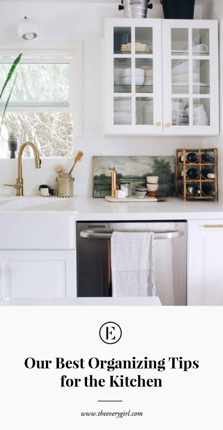 our guide to organizing your kitchen once and for all in on Organizing The Kitchen Area With A Dainty Kitchen Backsplash Decoration Model id=35076