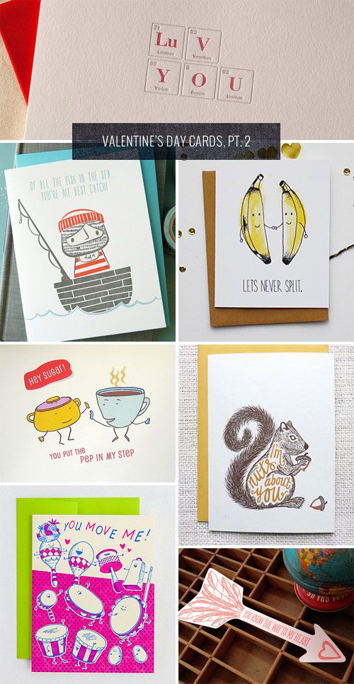 Punny Valentines Day Cards As Seen On Papercrave Com
