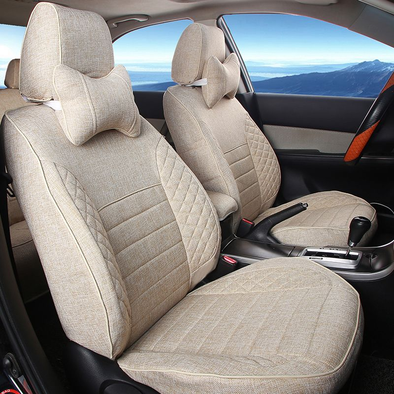 Linen Car Seats for BENZ SLK Seat Covers&Supports Custom Fit Cover ...