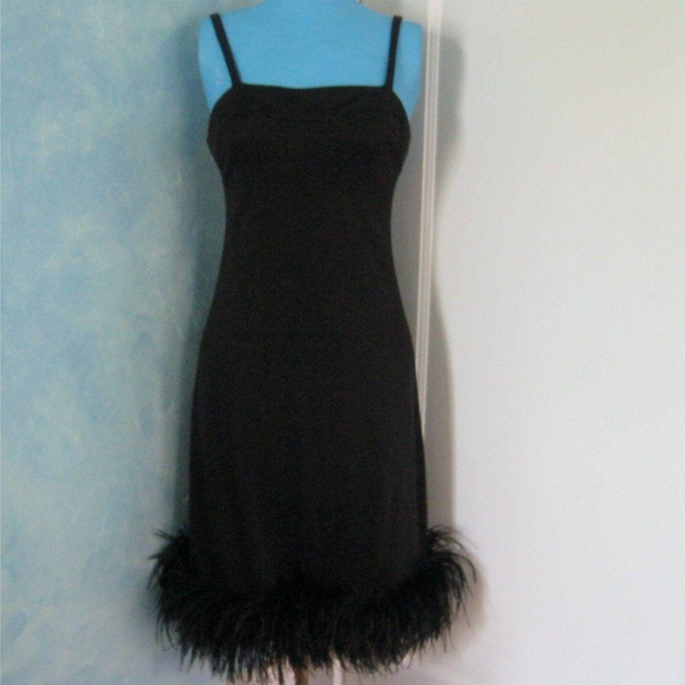60s Dress Ostrich Feather Dress Joseph Magnin Ostrich Trimmed Dress Little Black Dress By Makvintage4u On Et Little Black Dress 60s Dress Feather Dress [ 1000 x 1000 Pixel ]