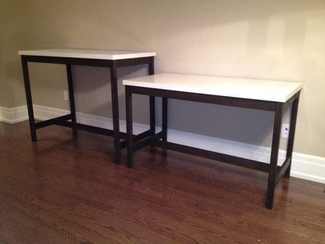 Bar Table And Desk Using Ikea Table Tops Vika Amon Ikea