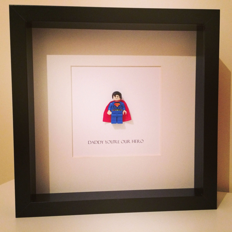 Daddy you\'re my hero\' Superman, batman, wolverine. Lego Art mini ...