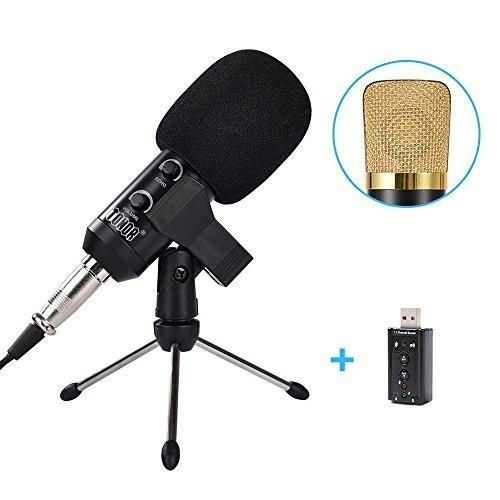 Tonor TN120421BL 3.5mm Condenser Microphone, No driver installation