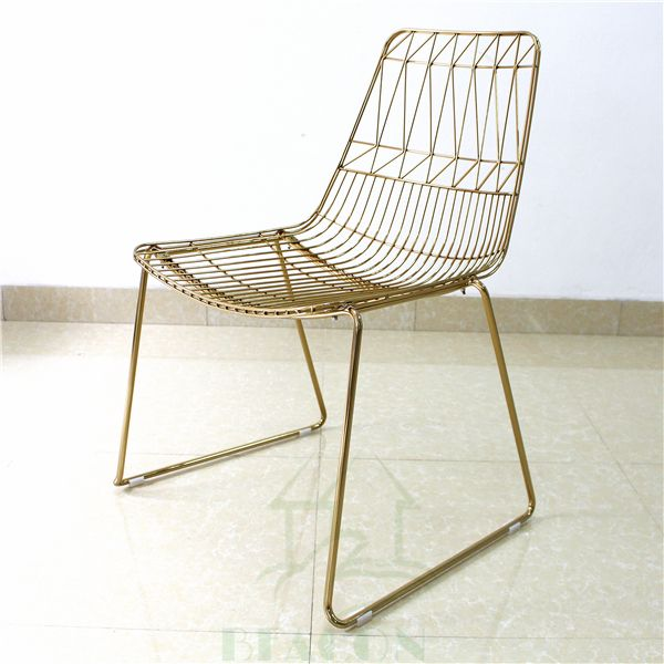 Stephanie Inn Dining Room: Source Classic Italy Design Metal Wire Mesh Dining Chair
