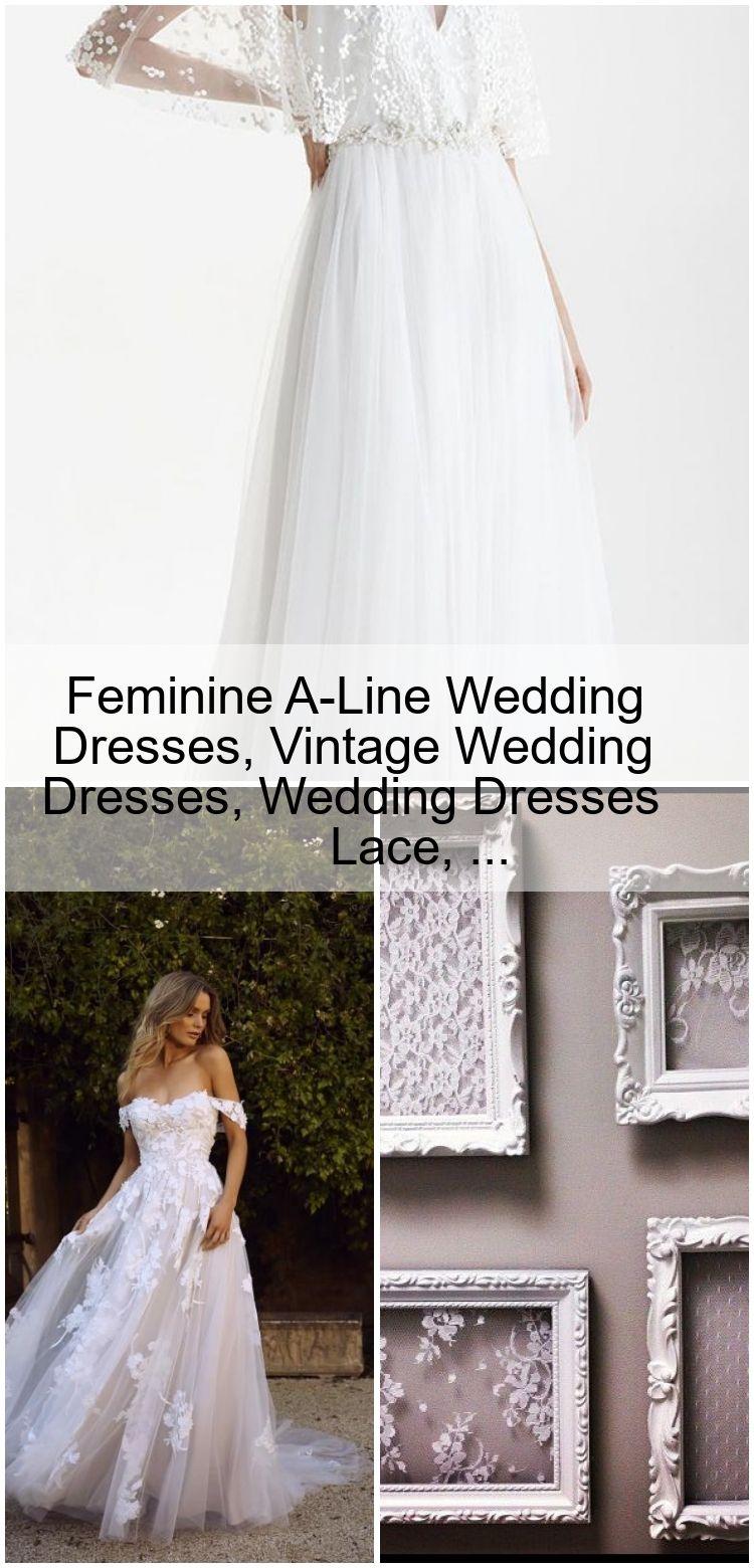 Feminine A Line Wedding Dresses, Vintage Wedding Dresses, Wedding ...