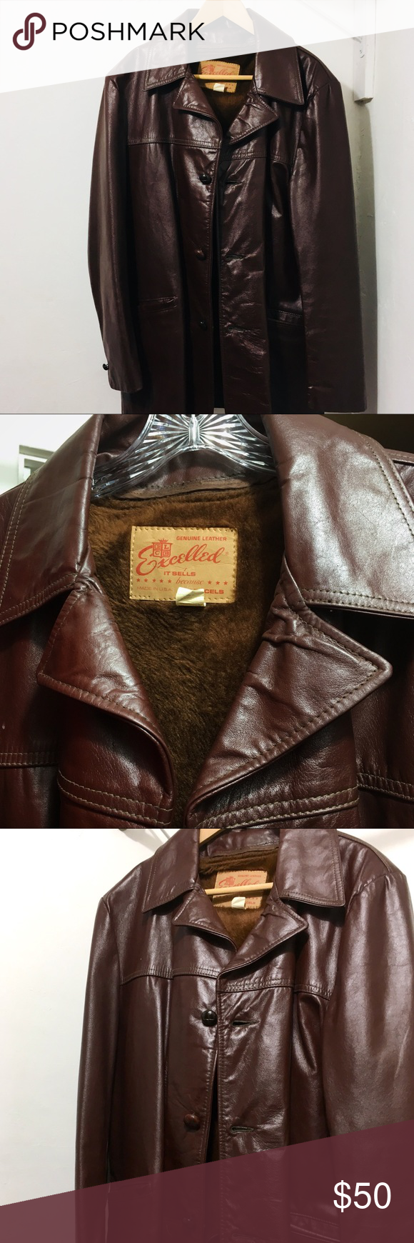 Vintage Men S Excelled Leather Jacket Vintage Excelled Genuine Leather Jacket Has A Removeable Leather Jacket Vintage Leather Jacket Genuine Leather Jackets [ 1740 x 580 Pixel ]