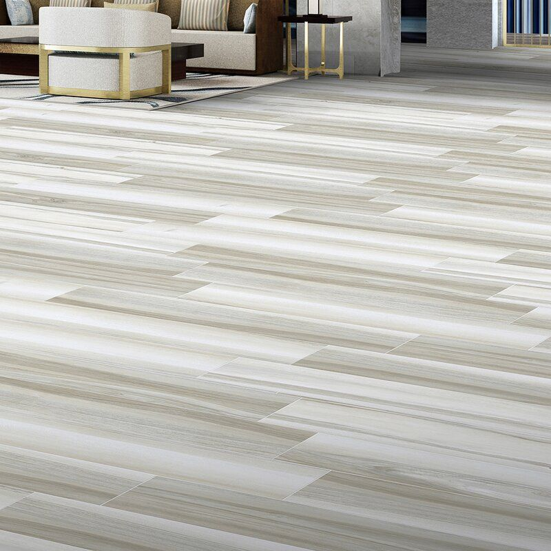 """Acazia 6"""" x 36"""" Ceramic Wood Look Tile in 2020 Wood look"""