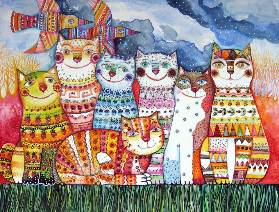 Иллюстрации котов картинки