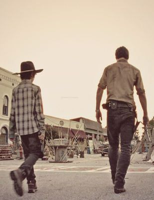 The Walking Dead - Chandler Riggs and Andrew Lincoln