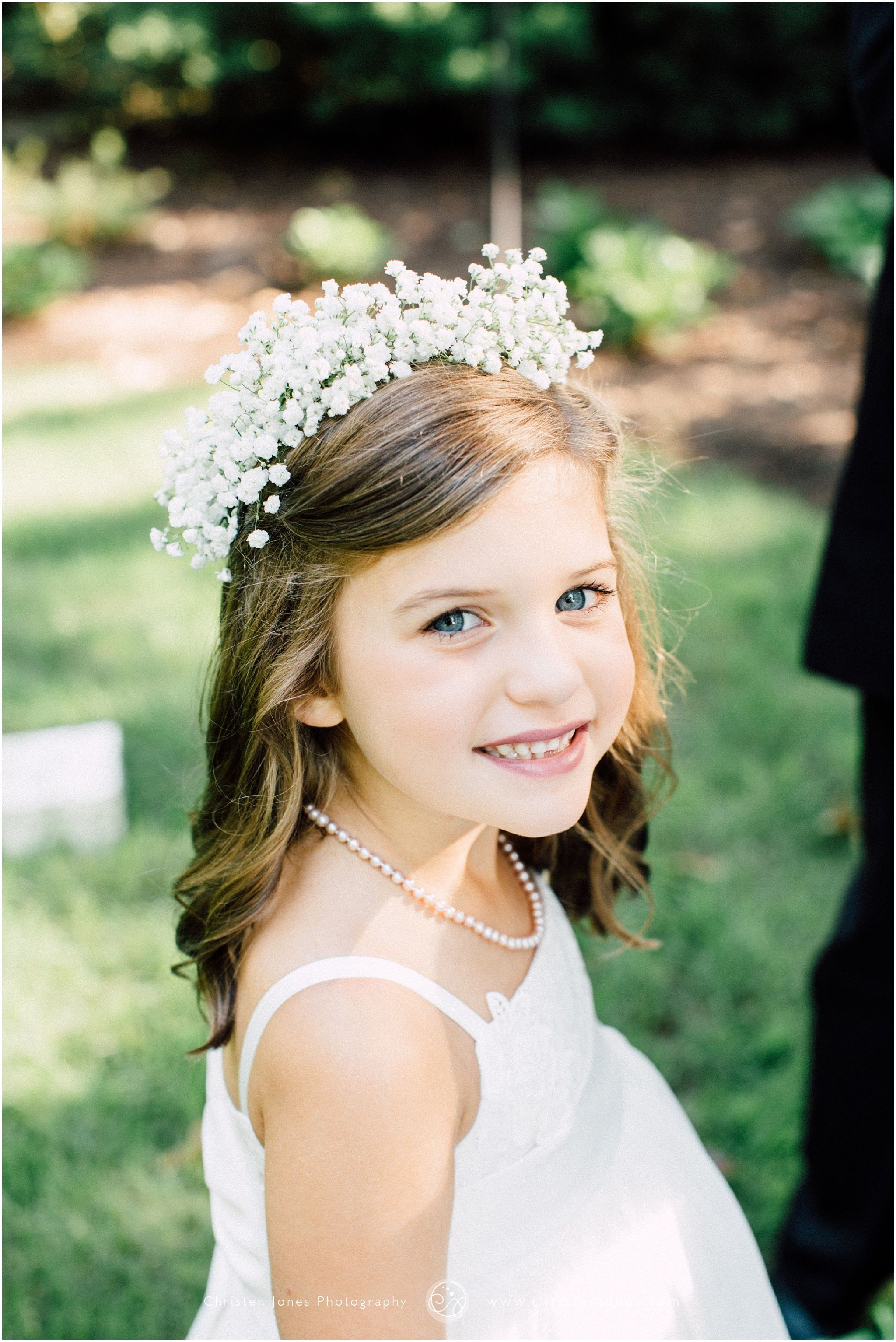 Little girl flower girl white dress white flower crown babys little girl flower girl white dress white flower crown babys breath pearls izmirmasajfo Gallery