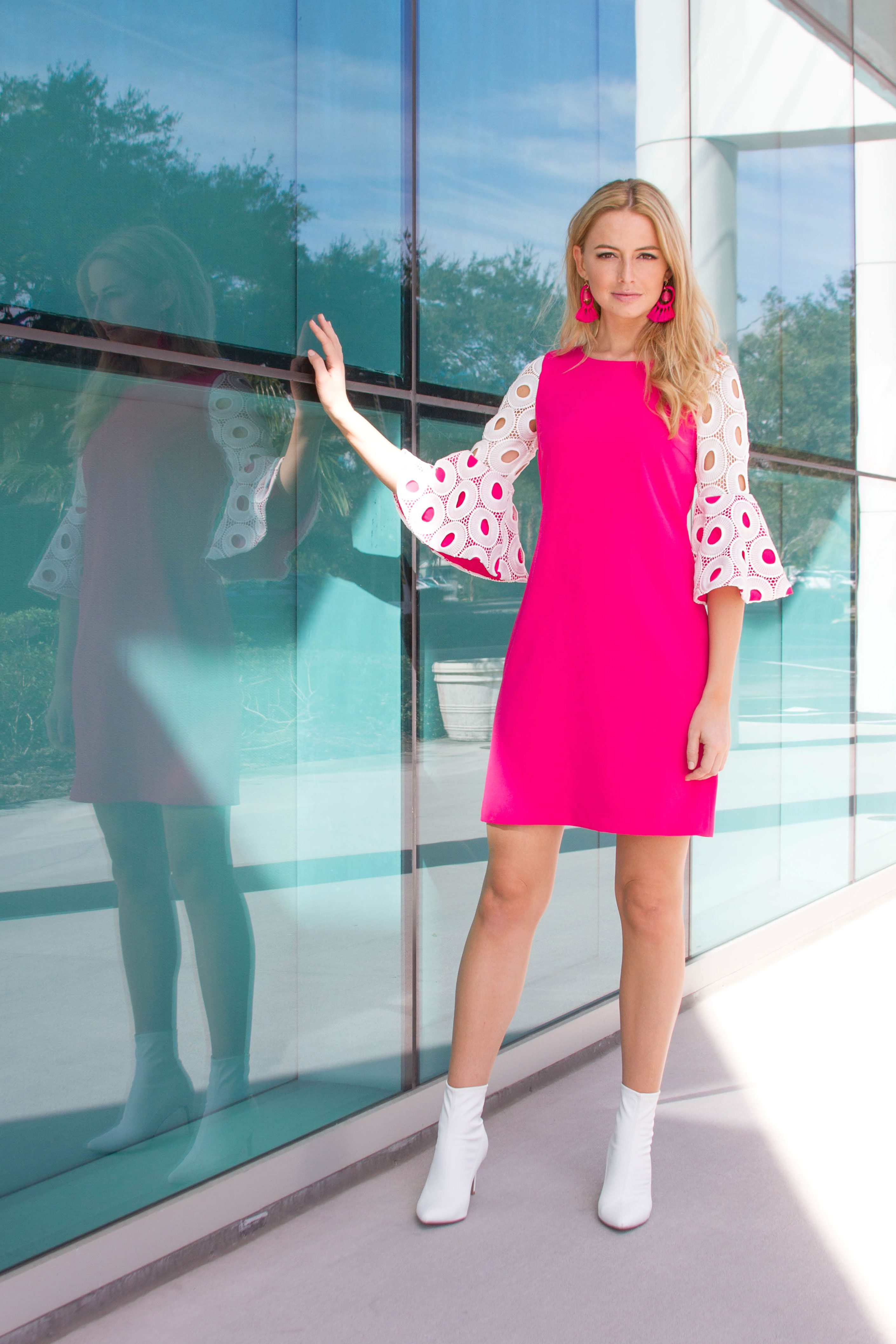 The camilyn beth jenni dress in raspberry mod style spring