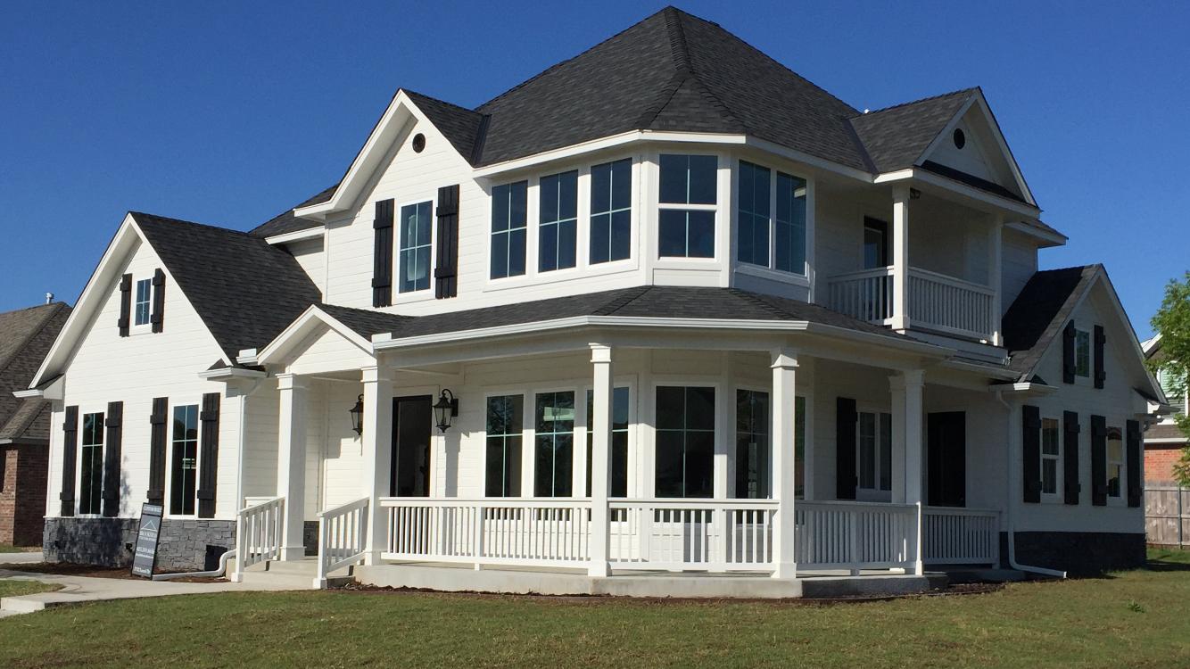 Black And White Wrap Around Porch Contemporary Colonial Craftsman House Styles Custom Homes Wrap Around Porch