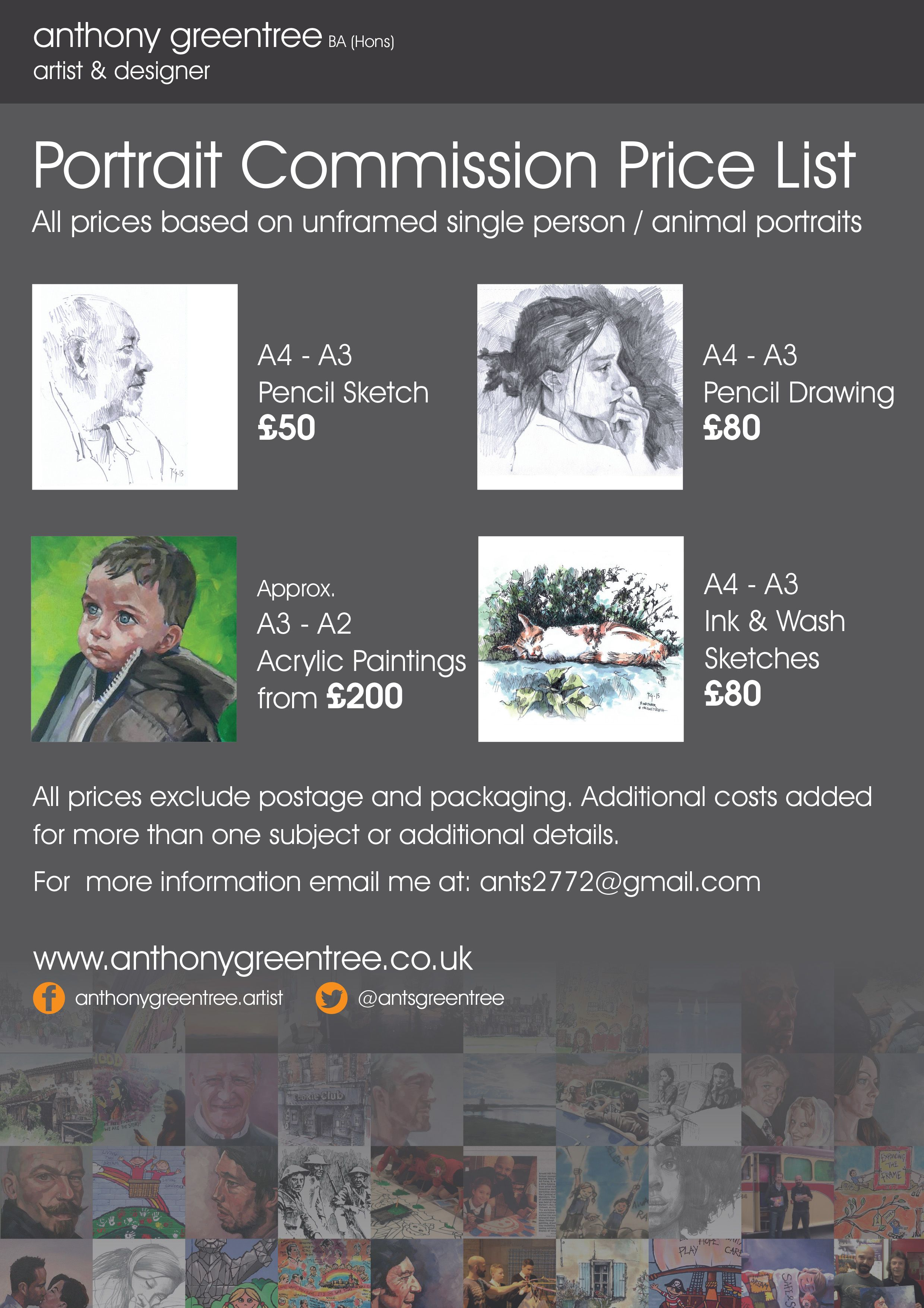 Portrait commission prices here is a rough guide to the sort of