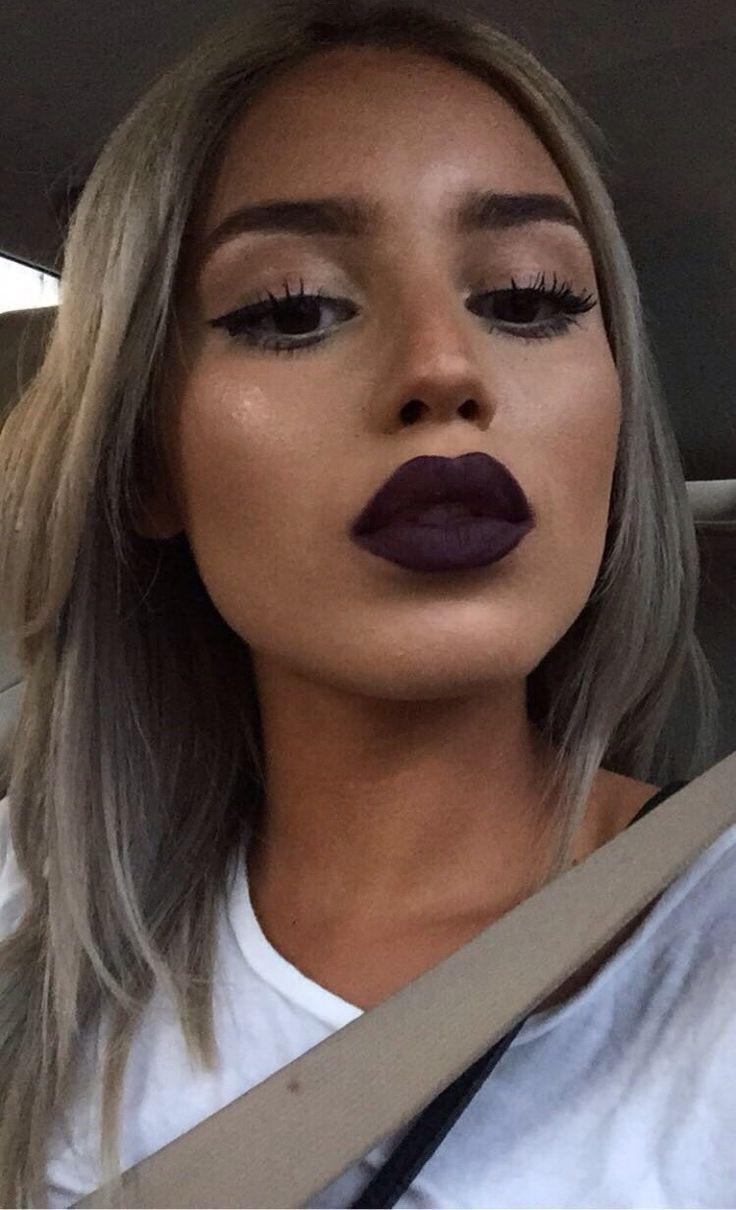 High up nose piercing  Dark matte lips  Matte  Pinterest  Makeup Makeup looks and