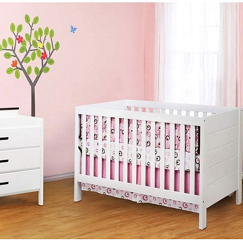 Baby Mod   Modena 3 In 1 Fixed Side Convertible Crib, White