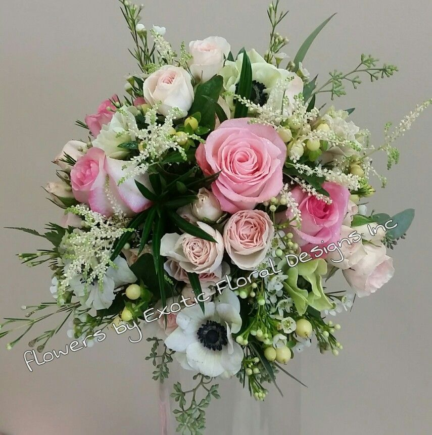 Blush and pink mixed flowers bouquet | Sträuse | Pinterest | Flower ...