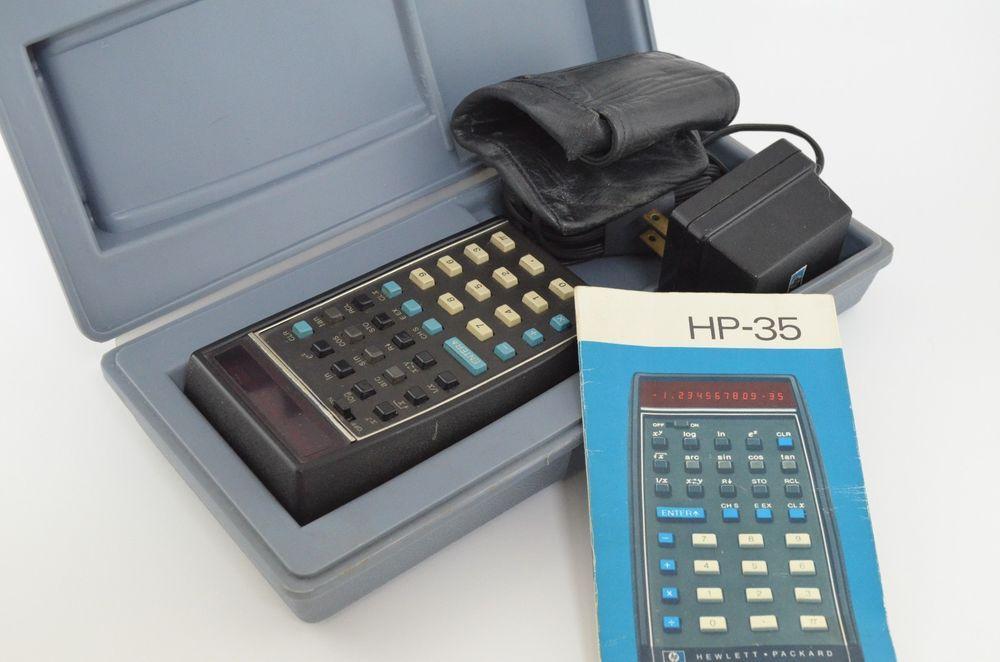 HP 35 Calculator Vintage Works Trig Sci First Handheld