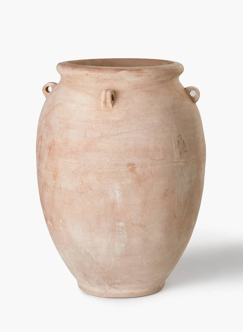 24in Terracotta Urn Ceramic Pots Urn Terracotta