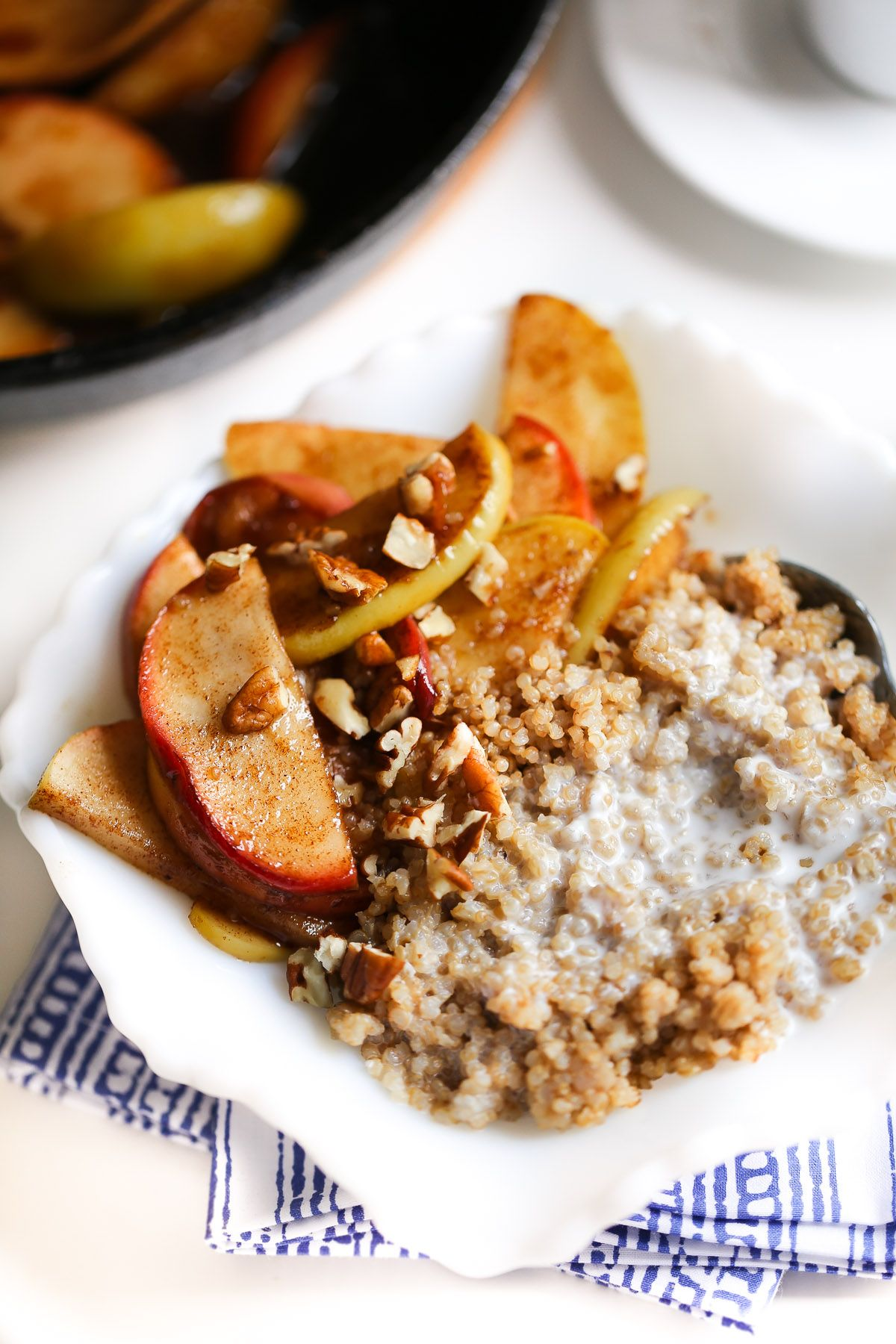 Healthy Breakfast Quinoa With Coconut Milk And Apples