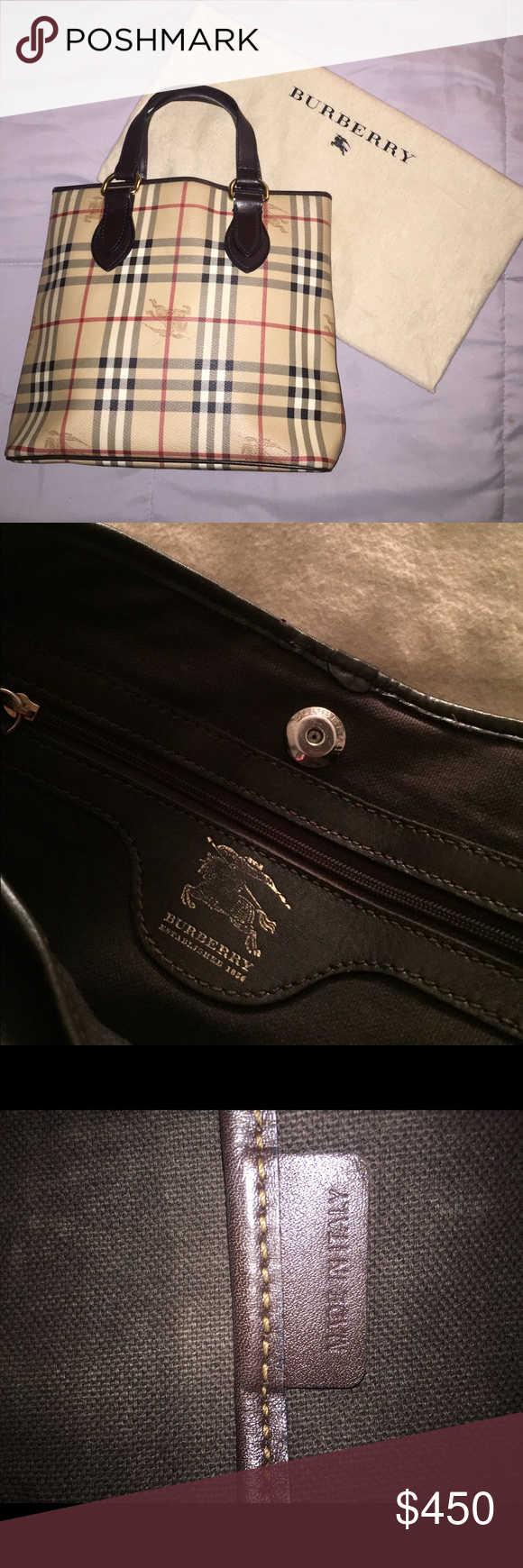 e68640bd75 BURBERRY Chester Check Haymarket Handbag Tote This GORGEOUS, authentic,  made in Italy, Burberry