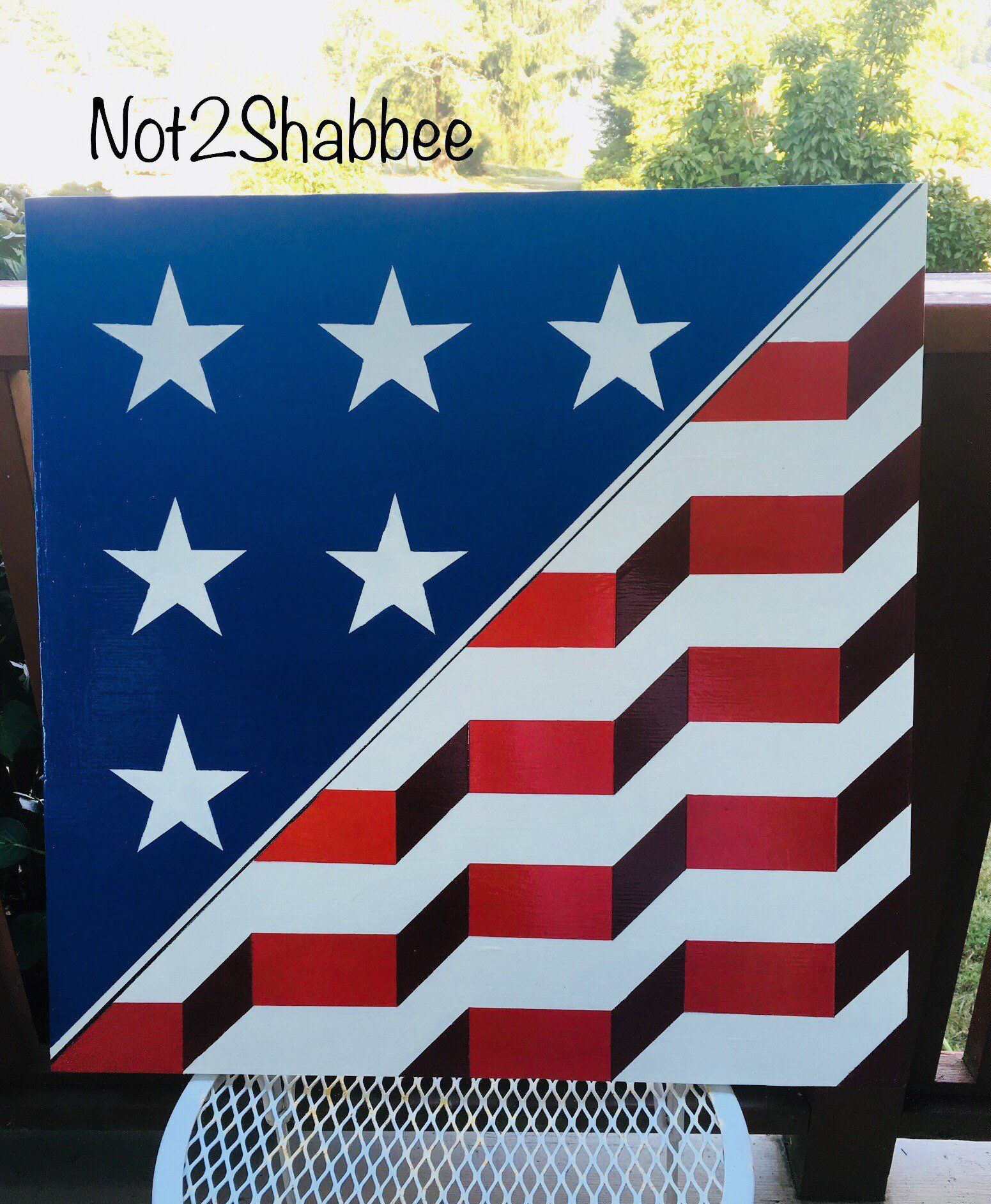 Not2shabbee Has Barn Quilts Hand Painted Us Flag Pattern Barn Etsy Barn Quilts Painted Barn Quilts Barn Quilt