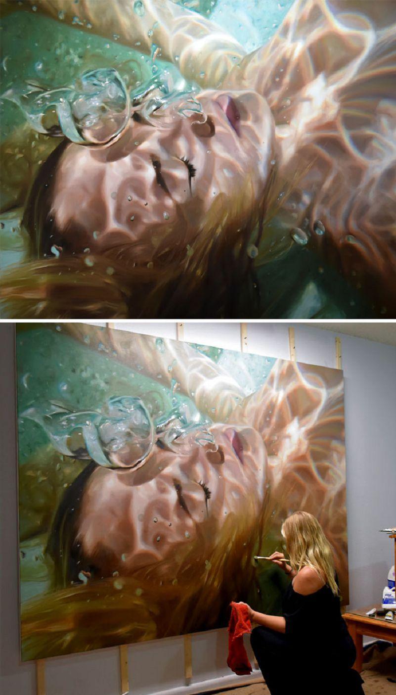 100 Exemples Incroyables D Oeuvres Hyperrealistes Portrait Peinture A L Huile Classicisme Peinture Peintures Vagues