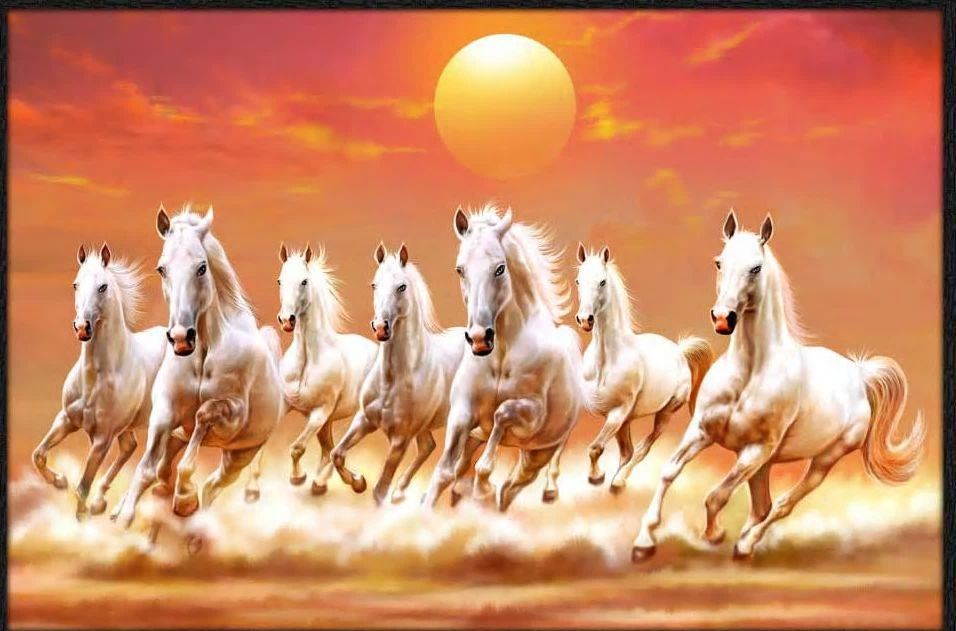 Pin By Tany Varghese On Animal Paintings Horse Wallpaper Seven Horses Painting Horse Painting Full hd wallpaper 7 horse