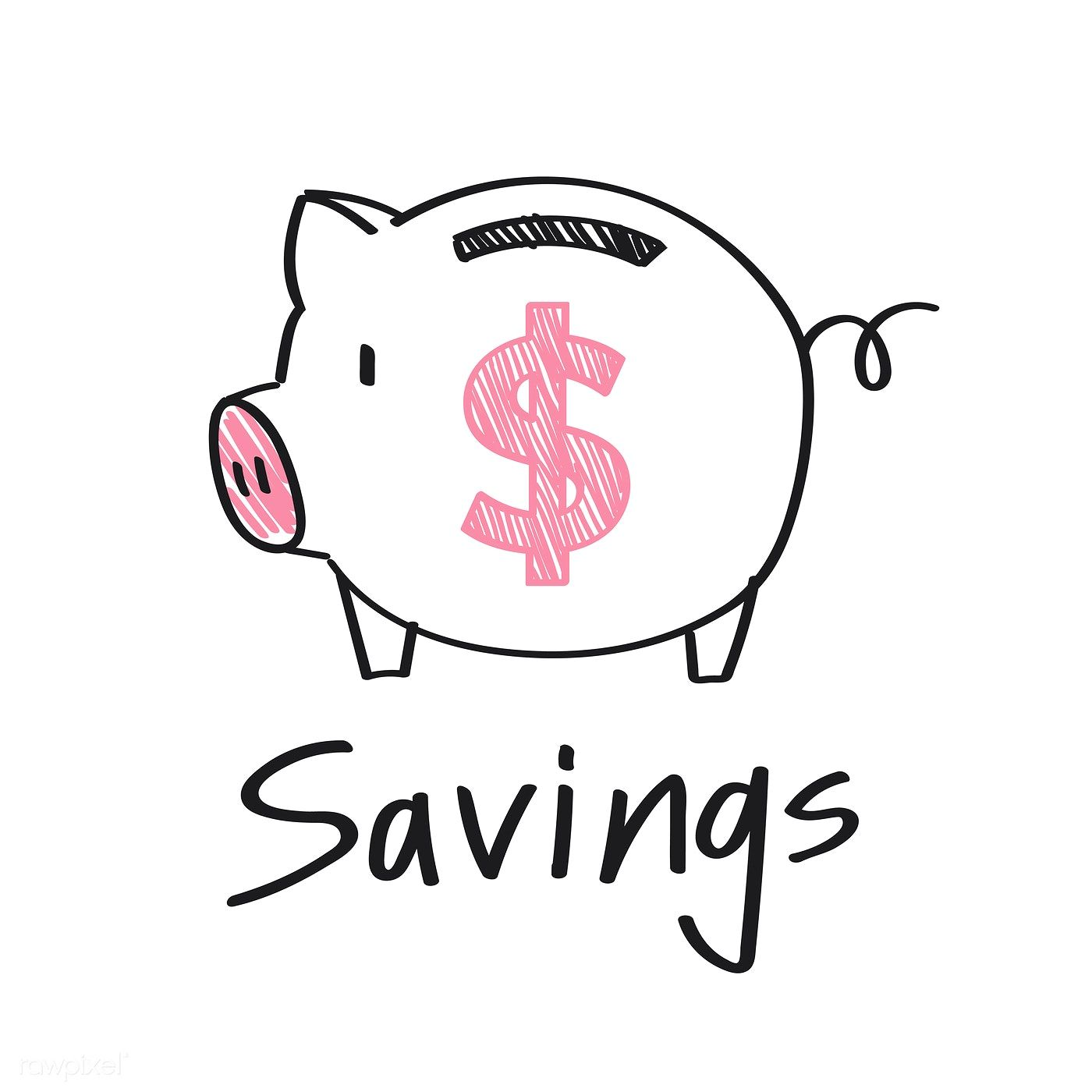 Piggy Bank With A Dollar Sign Illustration Free Image By Rawpixel Com Piggy Bank Vector Free Dollar Sign