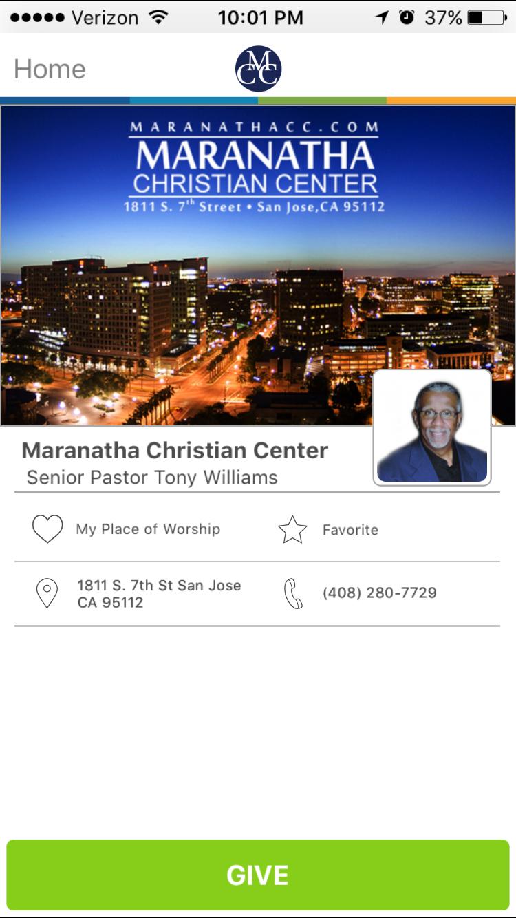 Maranatha Christian Center in San Jose, California