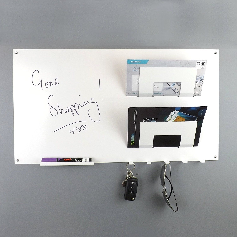 office key holder. White Wall Mounted Memo Board Letter Rack And Key Holder: Amazon.co.uk Office Holder C