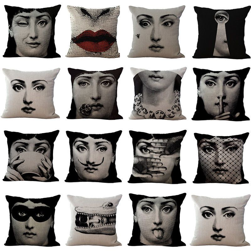 Pin By Cristina Y Bejarano On Art Linen Pillow Cases Black And White Pillows White Pillow Cases