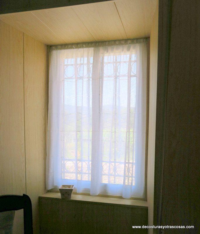 Ventana con visillo sencillo habitaci n carlos pinterest visillos sencillo y ventana - Como hacer visillos ...