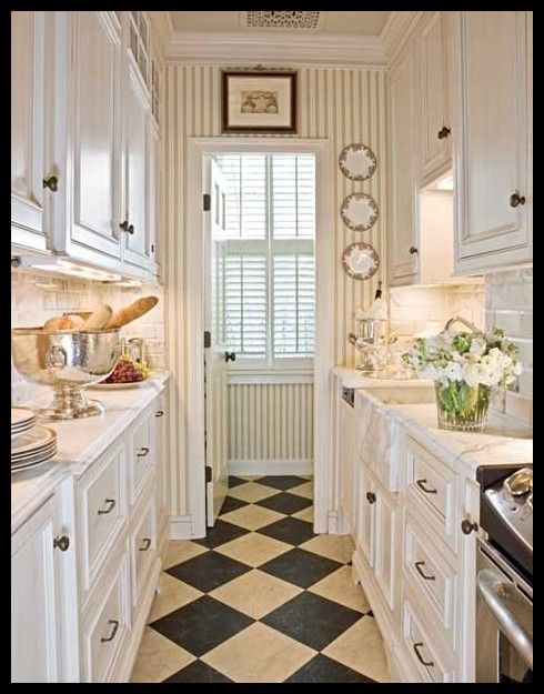 Island Small Galley Kitchen