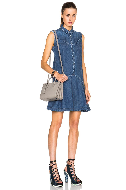 Image 2 of Saint Laurent Nano Sac De Jour Carryall Bag Graine in Light Grey 7fc2014be6e3d