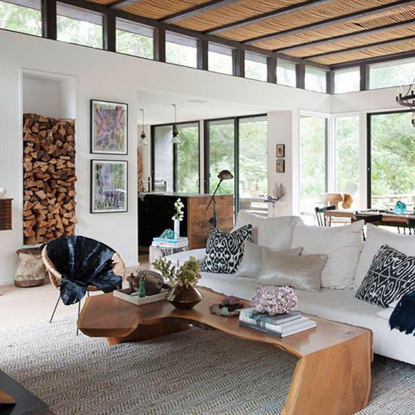 Charming Rustic Beach House Furniture #12: A Modern-rustic Beach House In The Hamptons