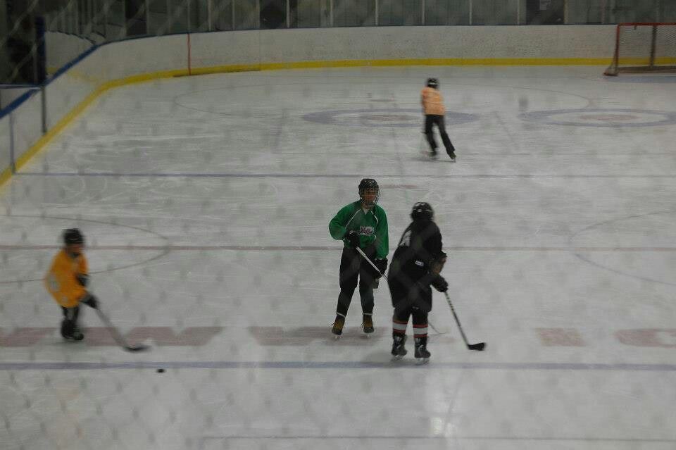Evan beginning hockey 12 yeears old