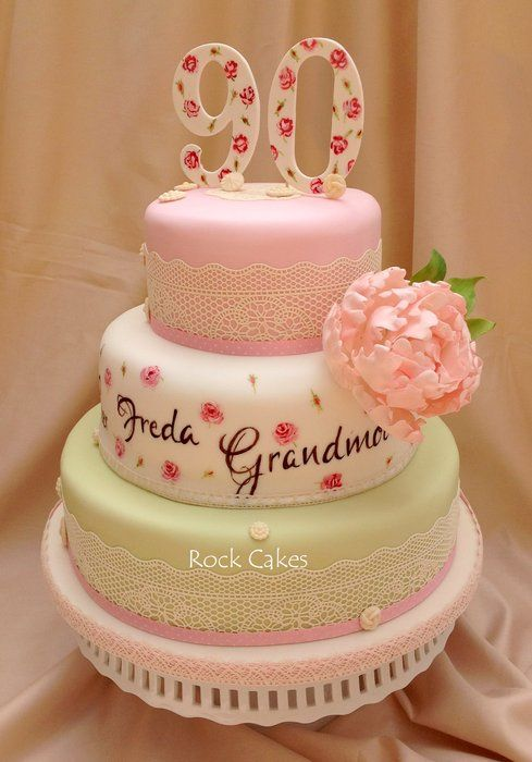 90th birthday cake for my gran Cakes Cake Decorating Daily