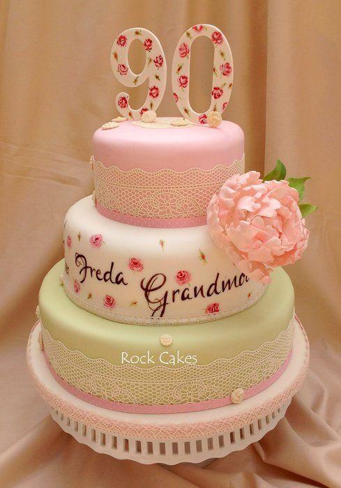 90th Birthday Cake Decorating Ideas : 90th birthday cake for my gran Cakes & Cake Decorating ...